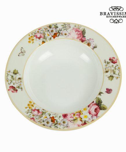 xekios Assiette creuse bloom white - Collection Kitchen's Deco by Bravissima Kitchen