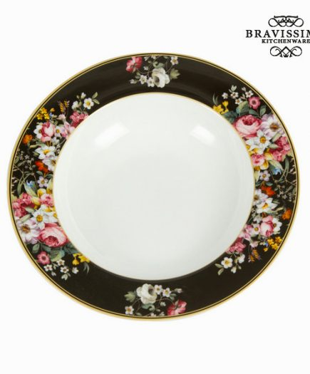 xekios Assiette creuse Porcelaine (Ø 23 cm) - Collection Kitchen's Deco by Bravissima Kitchen