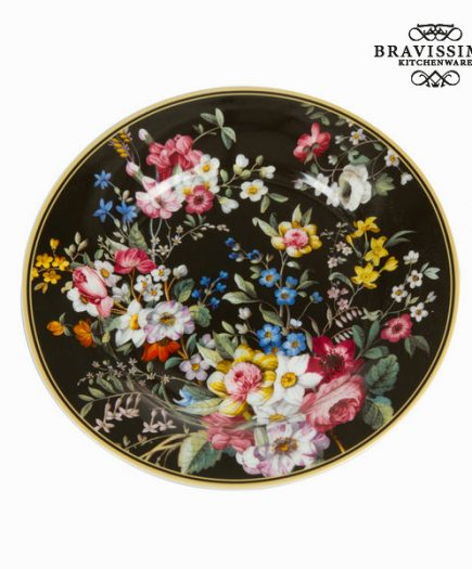 xekios Assiette Porcelaine Noir (Ø 19 cm) - Collection Kitchen's Deco by Bravissima Kitchen