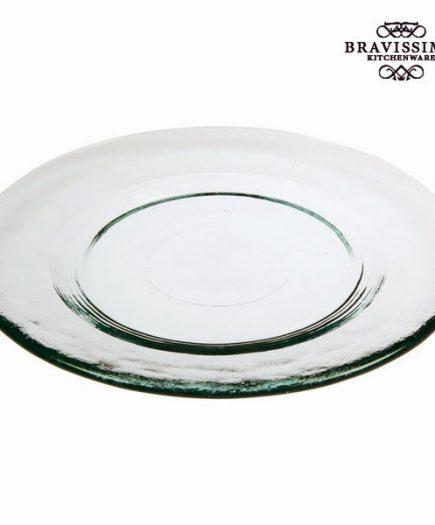 xekios Assiette à Dessert en Verre Recyclé Lisse Transparent - Collection Pure Crystal Kitchen by Bravissima Kitchen