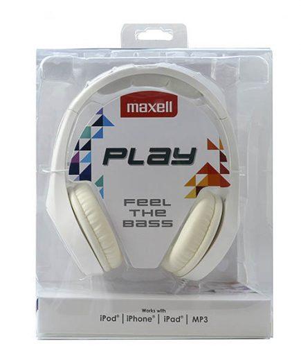 xekios Casque Maxell Play MXH-HP500 Blanc Serre-tête