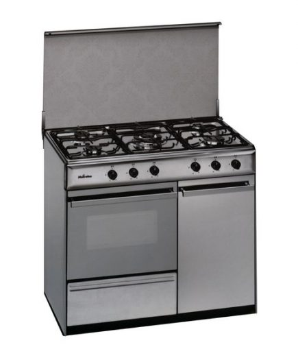 xekios Cuisinière au gaz butane Meireles 90 cm 114 L Inox Blanc