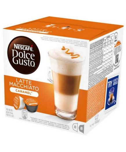 xekios Capsules de café avec étui Nescafé Dolce Gusto 24191 Latte Macchiato (16 uds) Caramel