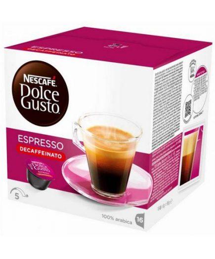 xekios Capsules de café avec étui Nescafé Dolce Gusto 60658 Espresso Decaffeinato (16 uds)