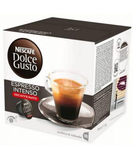 xekios Capsules de café avec étui Nescafé Dolce Gusto 60924 Espresso Intenso Decaffeinato (16 uds)