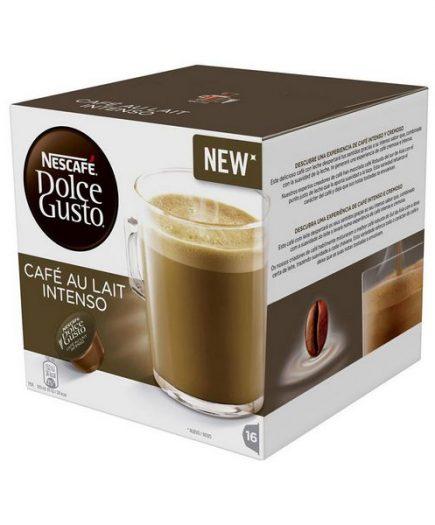 xekios Capsules de café avec étui Nescafé Dolce Gusto 45831 Café Au Lait Intenso (16 uds)