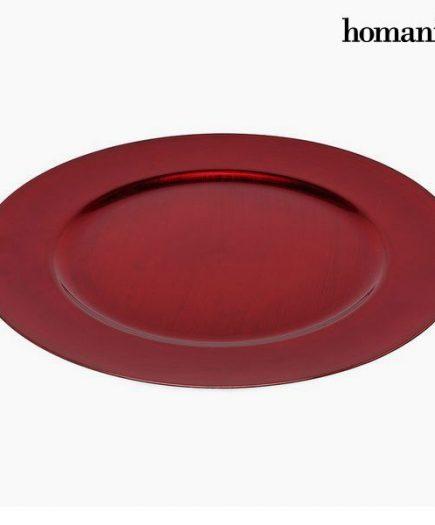 xekios Assiette plate Homanía 942 Rouge