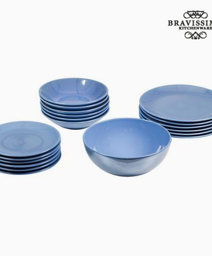 xekios Assietes (19 pcs) Vaisselle Bleu clair - Collection Kitchen's Deco by Bravissima Kitchen