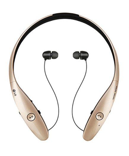 xekios Casques Bluetooth avec Microphone LG Tone Infinim HBS-900 Doré