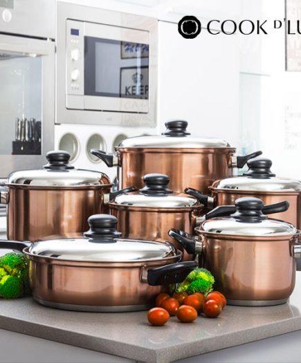 xekios Batterie de cuisine Cook D'Lux (12 pièces)