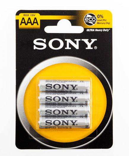 xekios Piles Salines Ultra Sony R03 AAA d'1,5V (pack de 4)