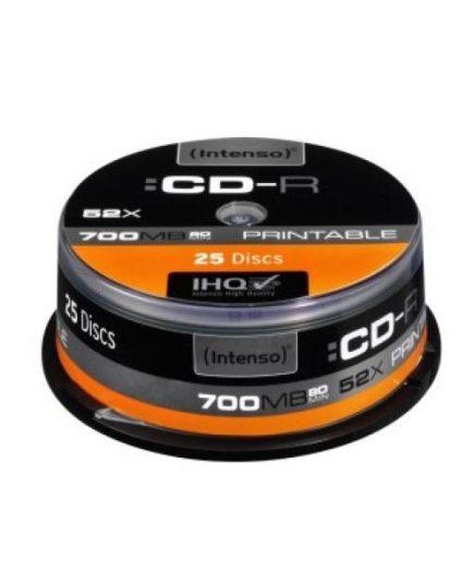xekios CD-R Imprimable INTENSO 1801124 52x 700 MB 25 pcs