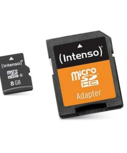 xekios Carte Mémoire Micro SD avec Adaptateur INTENSO 3413460 8 GB Cours 10