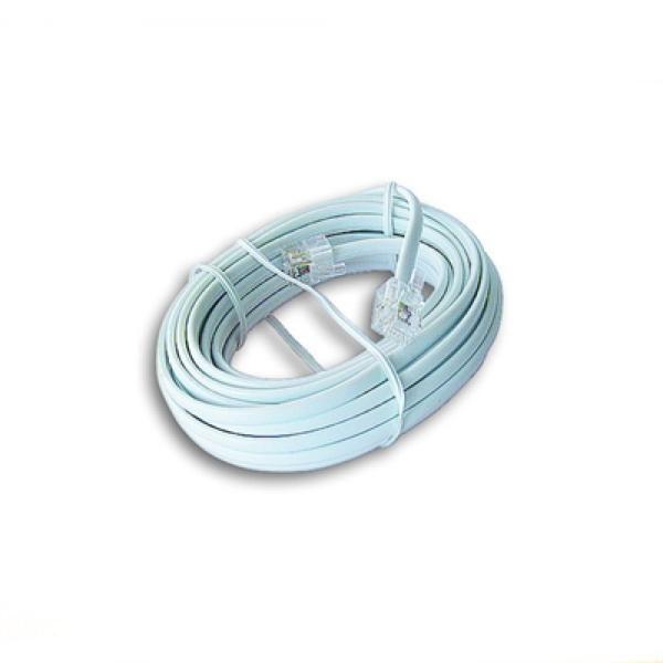 xekios Câble Téléphonique iggual IGG309599 RJ11 6P4C 5 m Blanc