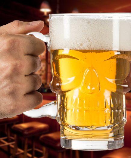 xekios Chope à bière Tête de mort