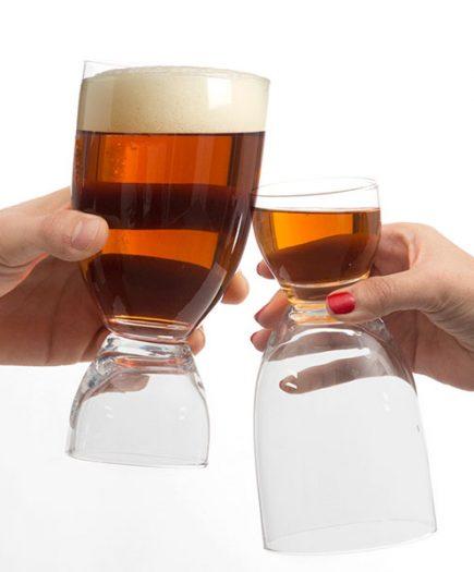 xekios Verre à Bière avec Verre à Shot