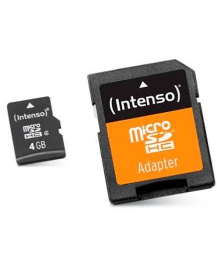 xekios Carte Mémoire Micro SD avec Adaptateur INTENSO 3413450 4 GB Cours 10