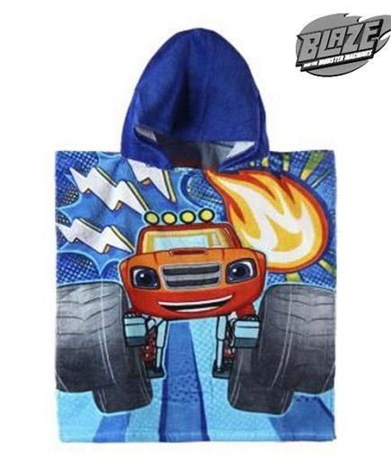 xekios Serviette poncho avec capuche Blaze and the Monster Machines 801