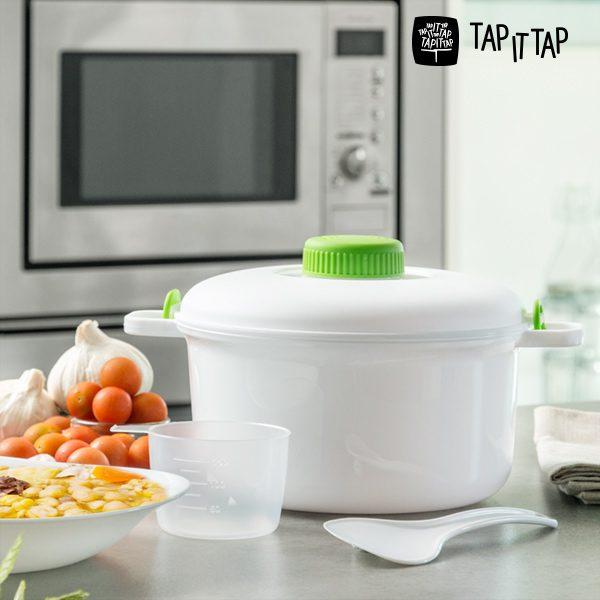 xekios Autocuiseur pour Micro-ondes Tap It Tap