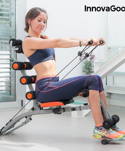 xekios Banc de Musculation 6x Intégral avec Guide d'Exercices InnovaGoods