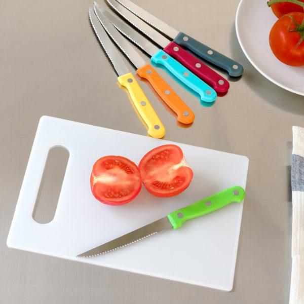 xekios Jeu de Couteaux avec Planche Colors (7 pièces)