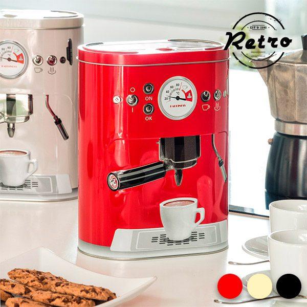 xekios Boîte Métallique Vintage Coffee Machine