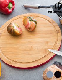 xekios Planche de Cuisine en Bambou avec Poignée TakeTokio