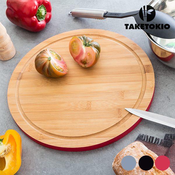 xekios Planche de Cuisine Circulaire en Bambou TakeTokio