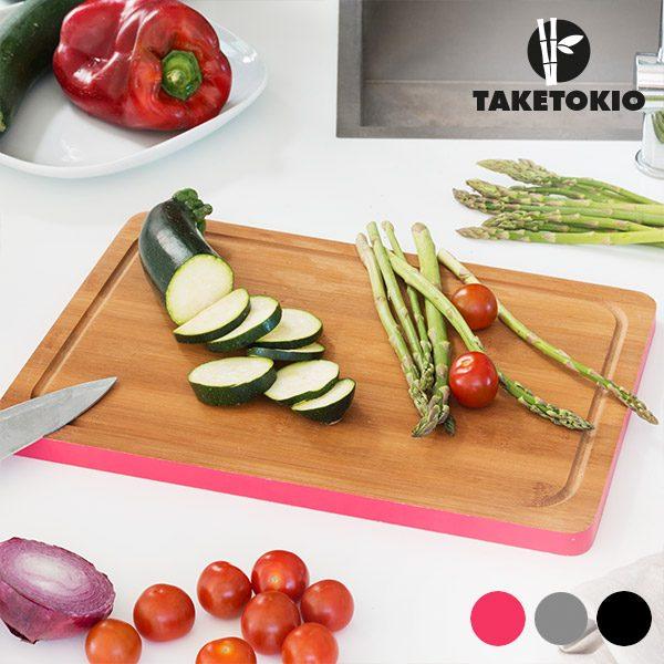 xekios Planche de Cuisine Rectangulaire en Bambou TakeTokio