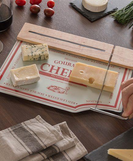 xekios Planche à Découper avec Coupeur à Fromages