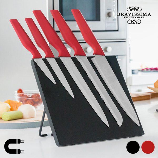 xekios Couteaux avec Support Magnétique Bravissima Kitchen (6 pièces)
