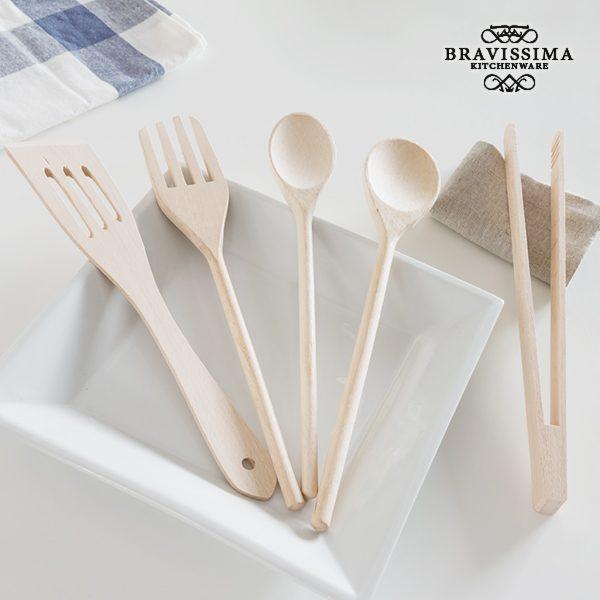 xekios Ustensiles de Cuisine en Bois Bravissima Kitchen (5 pièces)