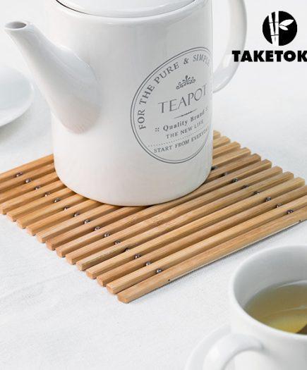 xekios Dessous de Plat Flexible en Bambou TakeTokio