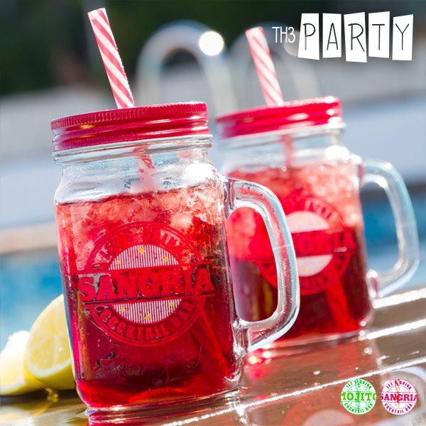 xekios Pot avec Couvercle et Paille Cocktail Bar Th3 Party