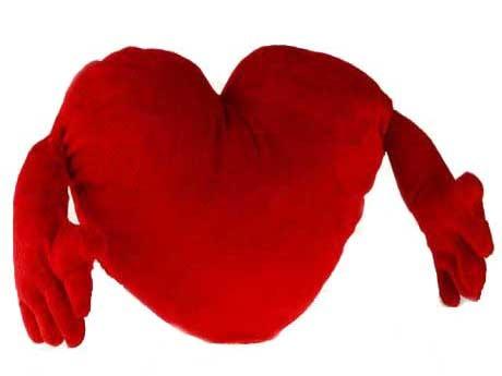 xekios Coeur en Peluche avec Bras (30 cm)