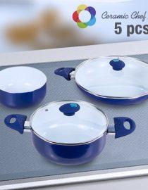 xekios Batterie de Cuisine Ceramic Chef Pan (8 pièces)