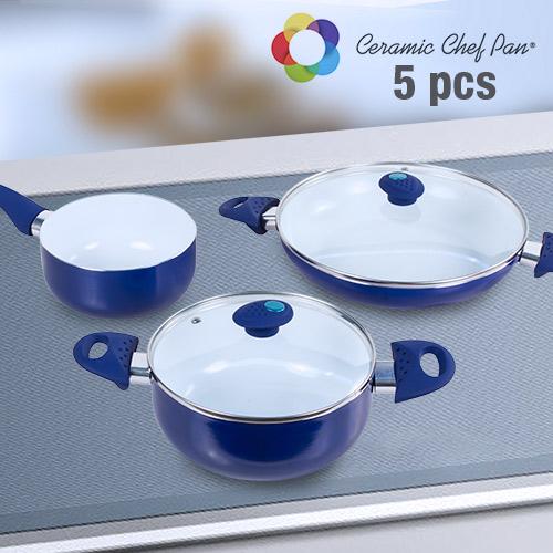 xekios Batterie de Cuisine Ceramic Chef Pan (5 pièces)