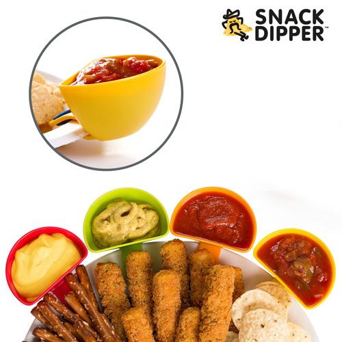 xekios Coupelles Apéro à Clip Snack Dipper (pack de 4)