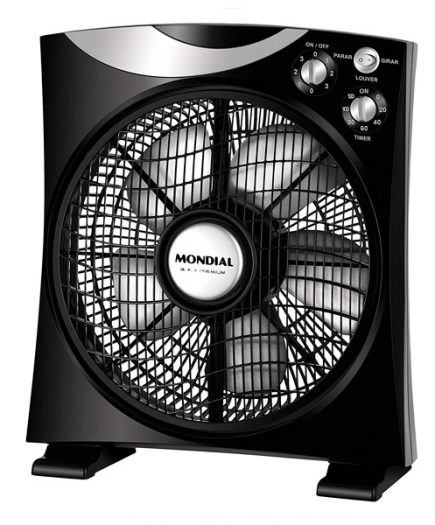 xekios Ventillateur Mondial CA04 BOX 50W 30 cm Noir