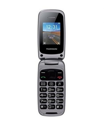 xekios Téléphone Portable THOMSON NTETMO0720 TLINK40 VGA 1.8 (128 x 160) 65K Bluetooth Micro SD Dual SIM FM Argenté