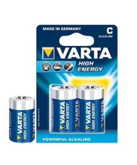 xekios Pile Alcaline Varta LR14 C 1,5 V High Energy (2 pcs) Bleu