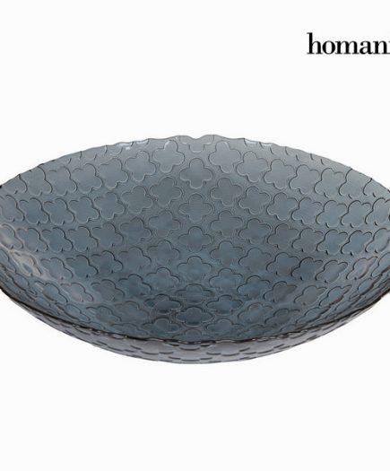 xekios Centre de Table Gris (39 x 10 cm) - Crystal Colours Kitchen Collection by Homania