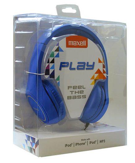 xekios Casque Maxell Play MXH-HP500 Bleu Serre-tête