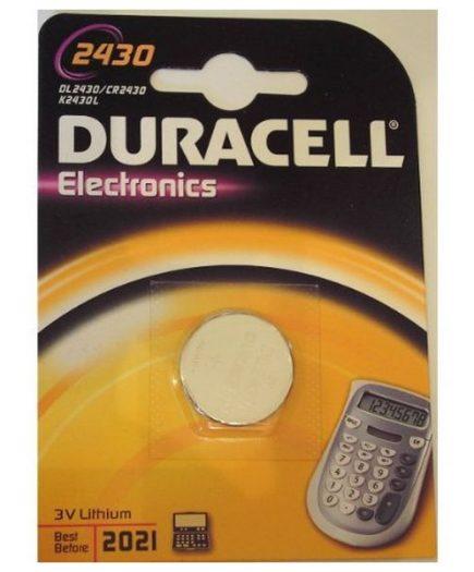 xekios Pile Bouton au Lithium DURACELL DRB2430 CR2430 3V