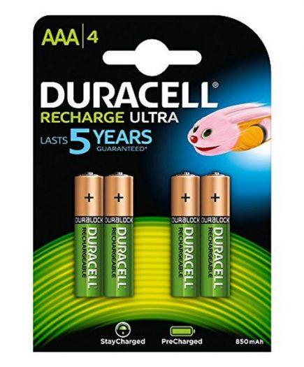 xekios Piles Rechargeables DURACELL DURDLLR03P4B HR03 AAA 800 mAh (4 pcs)