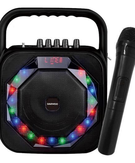 xekios Enceinte Bluetooth avec Microphone Karaoké Daewoo DSK-360 USB LED 20W Noir