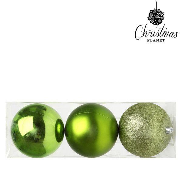 xekios Boules de Noël Christmas Planet 5276 10 cm (3 uds) Plastique Vert