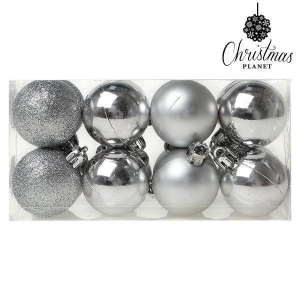 xekios Boules de Noël Christmas Planet 6868 4 cm (16 uds) Argenté