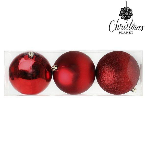 xekios Boules de Noël Christmas Planet 7285 10 cm (3 uds) Rouge