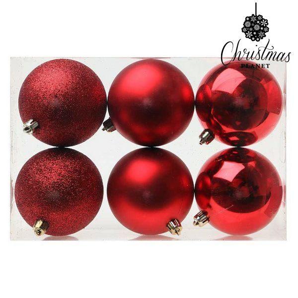 xekios Boules de Noël Christmas Planet 7964 8 cm (6 uds) Rouge